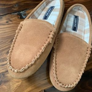 Women's Lands' End slip ons suede